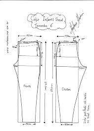 Resultado de imagem para moldes para calça social