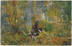 Homer, Winslow American, 1836 - 1910 On the Trail 1889 watercolor over graphite on wove paper
