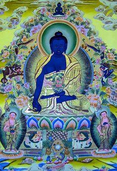 I uploaded new artwork to fineartamerica.com! - 'Medicine Buddha 3' - http://fineartamerica.com/featured/medicine-buddha-3-lanjee-chee.html via @fineartamerica