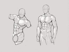 Muscles - Drawn - Ve el proceso completo: Digital Painting Creature Design Texture Paint Brushes Concept Art Design - Body Reference Drawing, Guy Drawing, Art Reference Poses, Drawing Hands, Body Anatomy, Anatomy Art, Anatomy Sketches, Art Sketches, Human Anatomy Drawing