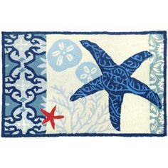 """<div class=""""ProductDescriptionContainer""""> <strong><span style=""""font-size: small;"""">Italian Tile with Starfish Rug</span></strong> <strong><span style=""""font-size: small;""""></span></strong> <address><span style=""""font-size: small;"""">Design © Jennifer Brinley<br /> </span></address> <address><span style=""""font-size: small;"""">Machin..."""