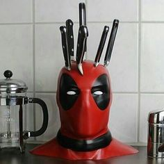 Don't worry he can't die like this Dead pool knife set ! #marvel #deadpool…