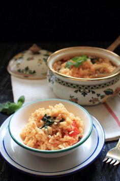Tomato Basil Risotto | The Flourishing Foodie