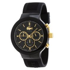 Lacoste - Gents Borneo Black Rubber Chrono Watch - 2010687 - Online Price: £99.00
