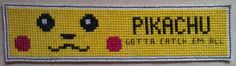 Cross Stitched Pikachu Bookmark  Handmade!