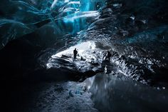 Icelandic Blue Glacier Ice Cave Iceland, Cave, Outdoor, Ice Land, Outdoors, Caves, Outdoor Games, The Great Outdoors