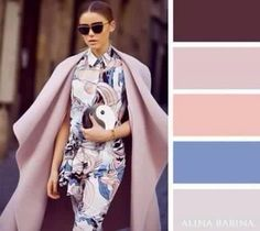 20 brilliant color combos for your wardrobe. Shades of mauve Colour Combinations Fashion, Color Combinations For Clothes, Fashion Colours, Colorful Fashion, Color Combos, Color Schemes, Color Pairing, Color Balance, Wall Colors