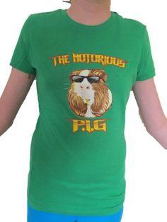 "Guinea Pig Nation Women's ""Notorious P.I.G."" T-Shirt"