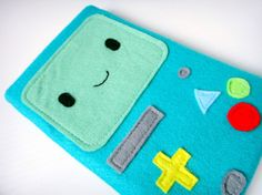 Felt iPad Mini Sleeve / Case BMO Adventure Time by yummypocket