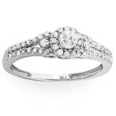 Round-cut diamond engagement ring14-karat white gold jewelryClick here for ring sizing guide