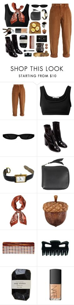 """""""peanut butter"""" by admir-ing ❤ liked on Polyvore featuring Miu Miu, T By Alexander Wang, Cartier, Acne Studios, Mason Pearson, Cassia and NARS Cosmetics"""