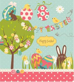 Need an #Easter #Card idea? This image is perfect inspiration for your holiday card! Or maybe use it for the cover as is!