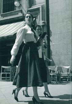 Spain. Alcalá St., Madrid, May 1955 // Photo by Cas Oorthuys