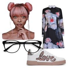 geek chic by dany-bear on Polyvore featuring polyvore fashion style Ted Baker Dolce&Gabbana EyeBuyDirect.com clothing
