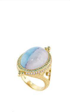 One of a Kind Divided Sky Paraiba Ring   by Erica Courtney for Preorder on Moda Operandi