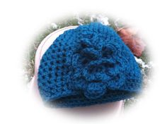 Baby Beanie Hat with Flower by fioreblu4u1 on Etsy, $12.00