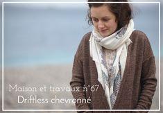 Driftless cardigan de grainline studio - Tissu Agnès b