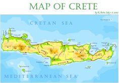 #Map of #Crete #Greece