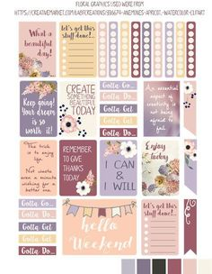 i love mini albums: New Summer Freebie Planner Stickers and Silhouette Cameo…