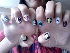 Soul Eater Inspired Nails By Aanoyume On Deviantart