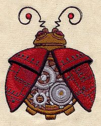 Embroidery Designs at Urban Threads - Steampunk Ladybug