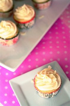 White chocolate cupcakes with White chocolate cream cheese frosting