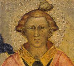 Spinello Aretino - Santo Stefano (dettaglio) - tempera e oro su tavola -  1400-1405 circa - Galleria dell'Accademia a Firenze.