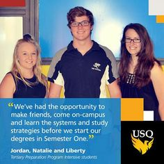 We went out and about this week to talk to students studying in Semester 3 and met Jordan, Natalie and Liberty. They are with us studying the Tertiary Preparation Intensive Program and will start their Bachelor degrees in Semester 1.  What do you like about studying over Semester 3? - Sam