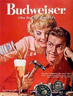 Cerveja Budweiser (1958) - Propaganda