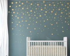 Gold star decal set gold confetti stars baby by wordybirdstudios