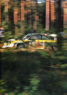 """I went in with Hannu and soon discovered that sports shoes were not the ideal footwear as the floor of the car was so hot on the passenger side that the shoes melted. The engine in that car was phenomenal."" - Ford´s engineer John Wheeler getting a taste of the wing-Audi alongside Hannu Mikkola in the 80s."
