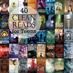 40 Clean Reads for Teens from Delicious Reads (by Robin King). Robin-approved books for any teenager with a PG-like rating