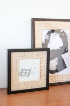 DIY with rattan: Passe-partouts for an unique look | LOOK WHAT I MADE ... Diy Upcycling, Look What I Made, Rattan, Make Your Own, Picture Frames, Things To Think About, Give It To Me, Gallery Wall, My Favorite Things