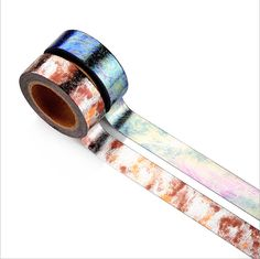 Color gradient Foil Washi Tape Japanese Washi Tape Deco Tape - 15mm X 10 metres by GinkoSupplies on Etsy