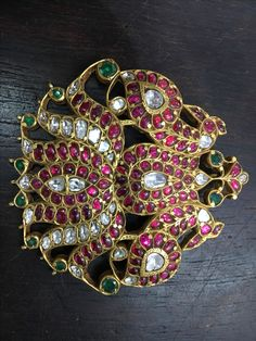 Ruby Jewelry, India Jewelry, Temple Jewellery, Gems Jewelry, Pendant Jewelry, Indian Wedding Jewelry, Bridal Jewelry, Gold Pendent, Spike Necklace