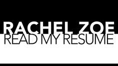 Rachel Zoe's Resume on video.glamour.com