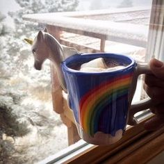 3D Unicorn Mug. This thing is Amaazing. Want one ♡~♡