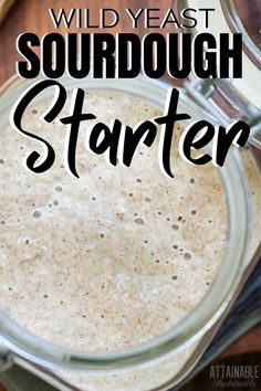 Baking sourdough bread is easy and delicious. This easy sourdough starter recipe without yeast is the perfect place to begin with your sourdough baking! Sourdough Starter Recipe Without Yeast, Rustic Sourdough Bread Recipe, Homemade Bread Without Yeast, Sourdough Bread Starter, Yeast Starter, Recipes With Yeast, Sourdough Recipes, Bread Recipes, Wild Yeast Bread Recipe