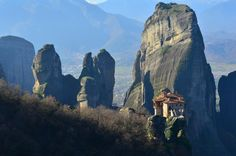 The Story Behind The Mountain-Top Monasteries of Meteora, Greece