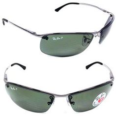 3eae88223fd NEW Ray-Ban RB 3183 Gunmetal   Green Lens Sunglasses in Clothing