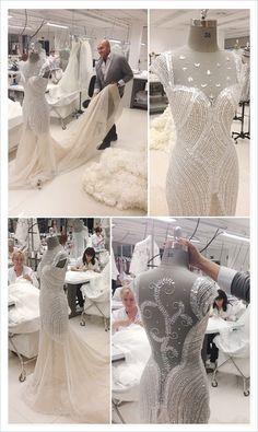 Haute Couture behind the scenes - dressmaking; Couture Details, Fashion Details, Couture Fashion, Fashion Show, Fashion Fashion, Live Fashion, Fashion Trends, Manuel Mota, Lesage