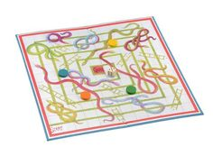 """Snakes & Ladders Board Game - 15"""" Card and Lined Snakes and ladders game by Jaques of London, http://www.amazon.co.uk/dp/B004U7J4OC/ref=cm_sw_r_pi_dp_iH4wsb0SPK04E"""