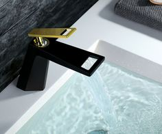 Cheap waterfall faucet, Buy Quality basin tap directly from China bathroom sink mixer Suppliers: Lovely Solid Brass Matt Black Bathroom Sink Mixer Chrome Basin Tap 2016 Wholesale New Arrival Single Handle Waterfall Faucet