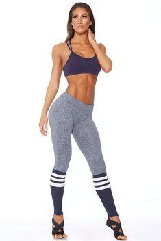 dc3103138fbf0 Bombshell Sportswear Sock Leggings - Navy at Amazon Women's Clothing store:  Athletic Body, Athletic