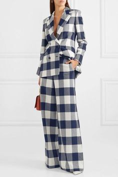 Suit Fashion, Fashion Outfits, Womens Fashion, Professional Outfits, Office Outfits, Work Attire, Mode Style, Suits For Women, Wide Leg Pants