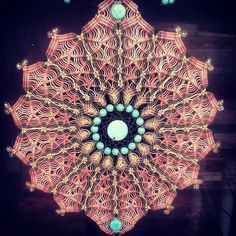 Mandala Filtro dos Sonhos   Mani Macrame   Elo7