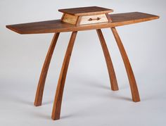 """""""In Flight"""" - Hall Table by Steven M. White. Cherry, Maple."""