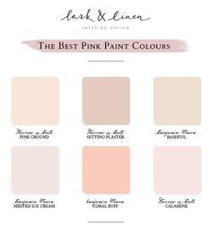Pink Paint Colors, Paint Color Schemes, Interior Paint Colors, Paint Colors For Home, Room Colors, Pink Color, Nursery Paint Colors, Best Bedroom Paint Colors, Stain Colors