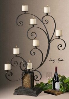How gorgeous! Wrought iron candelabra!