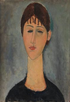 Amedeo Modigliani - Portrait of Mme Zborowska